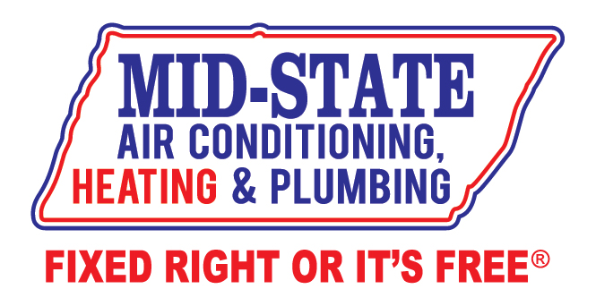 Mid-State Air Conditioning, Heating & Plumbing logo. Clicks to sponsor website.
