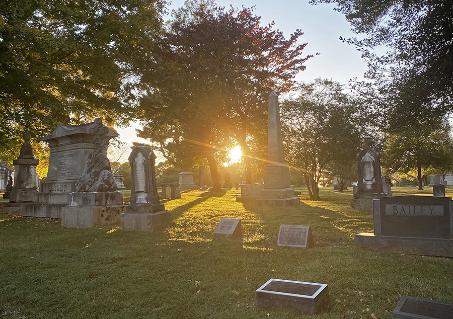 Sunset at Greenwood Cemetery